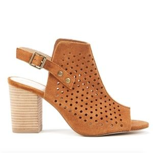Sole Society Rena Slingback Perforated Sandals 5.5